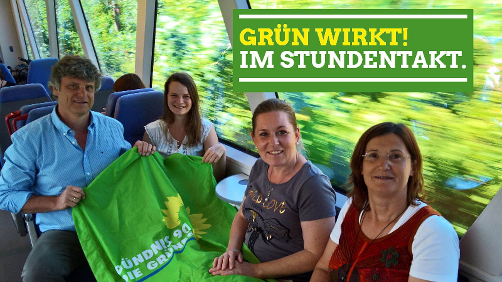 Grün wirkt! Stundentakt in Südthüringen bleibt erhalten.