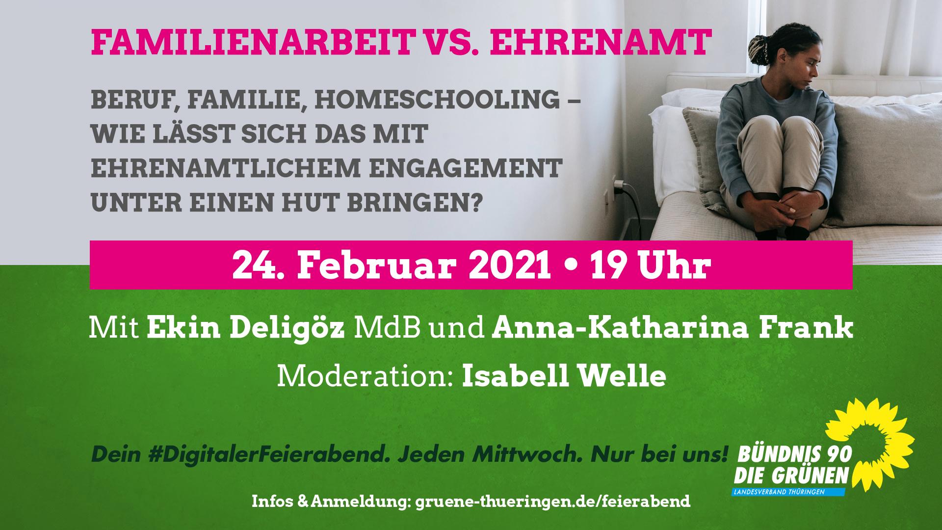 """Familienarbeit vs. Ehrenamt"""