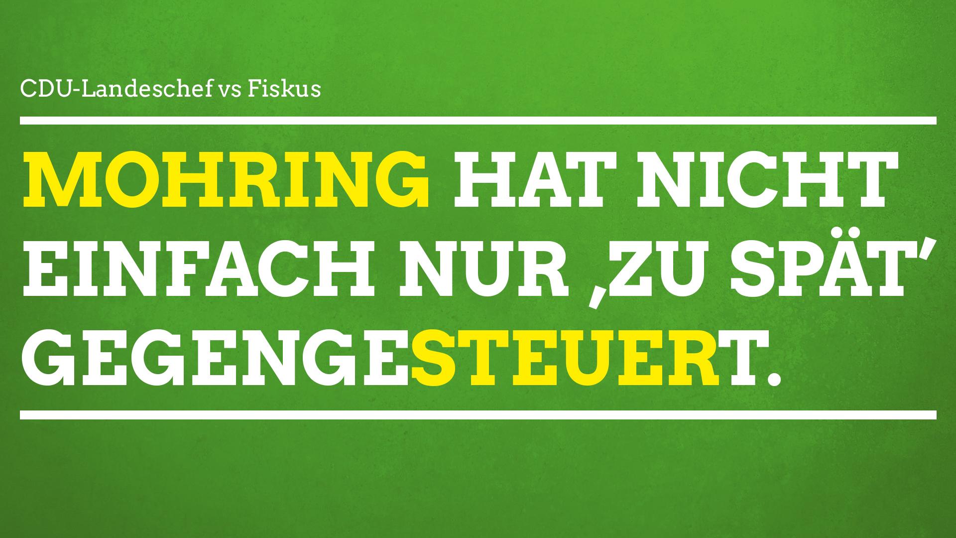 Grüne fordern Aufklärung zu Steuervorwürfen gegen CDU-Vorsitzenden Mike Mohring