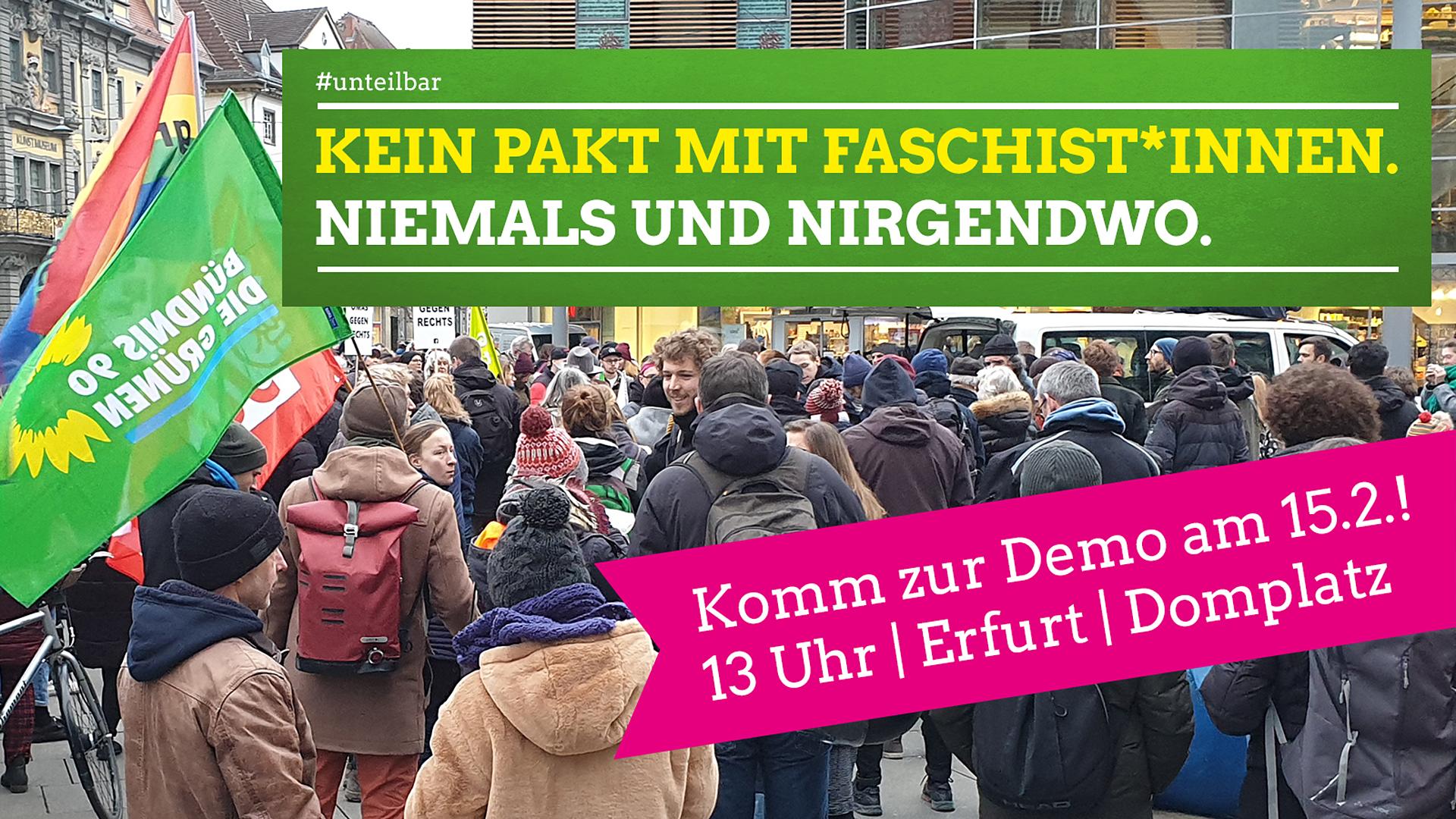 Komm zur #unteilbar-Demo am Samstag nach Erfurt