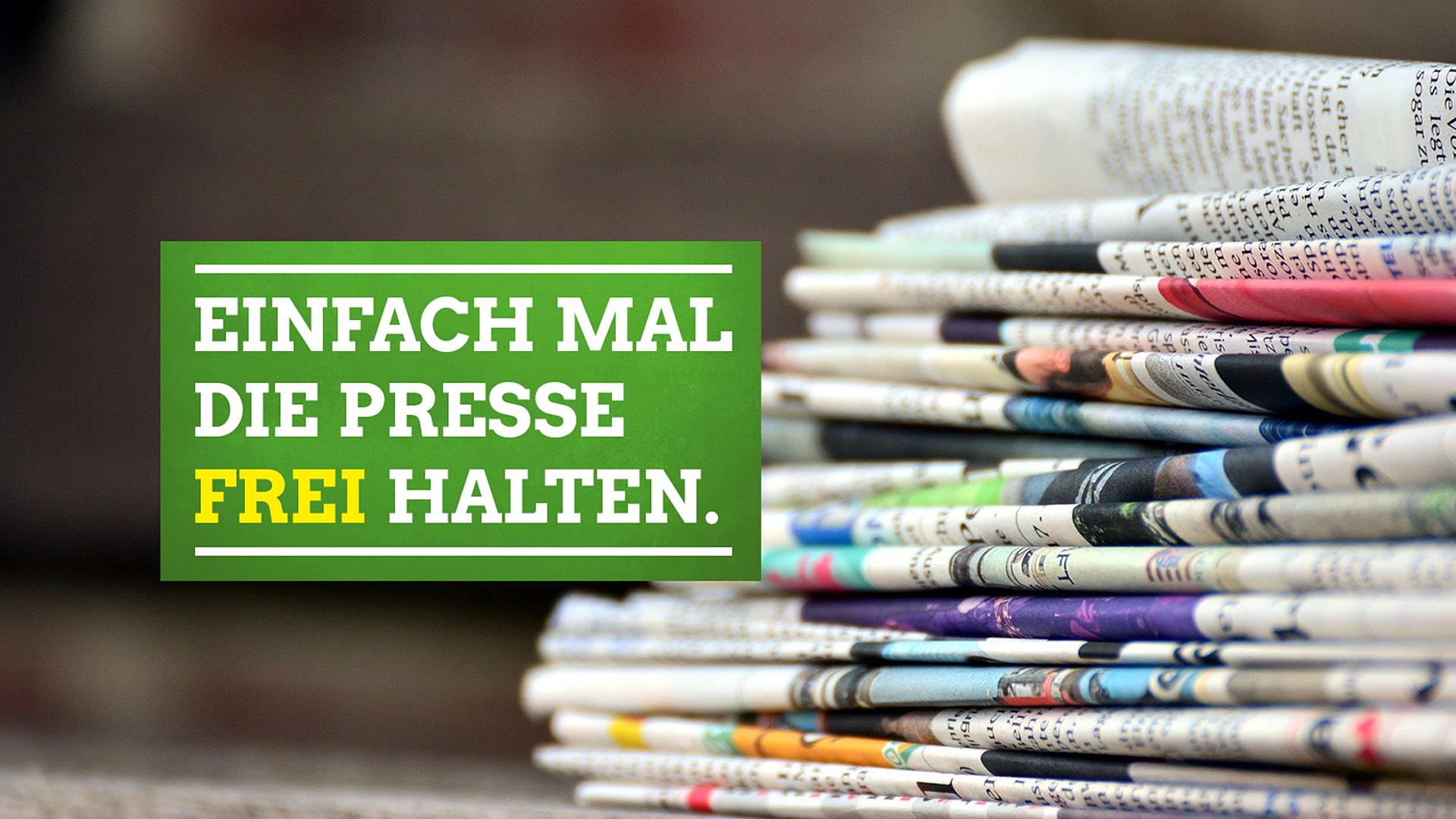 Tag der Pressefreiheit: Einfach mal die Presse halten. Sie frei halten.