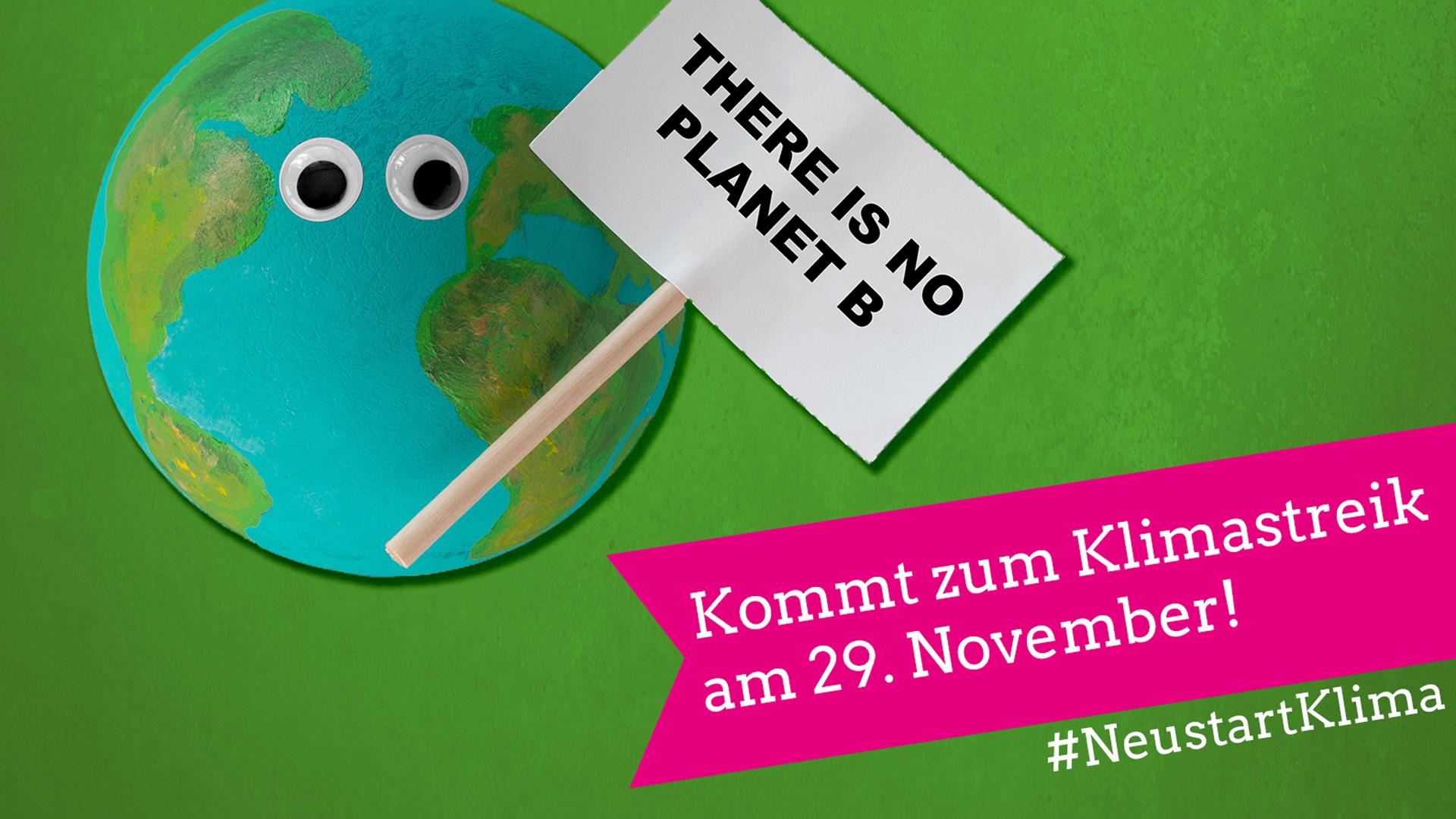 Komm zum Klimastreik am 29. November!