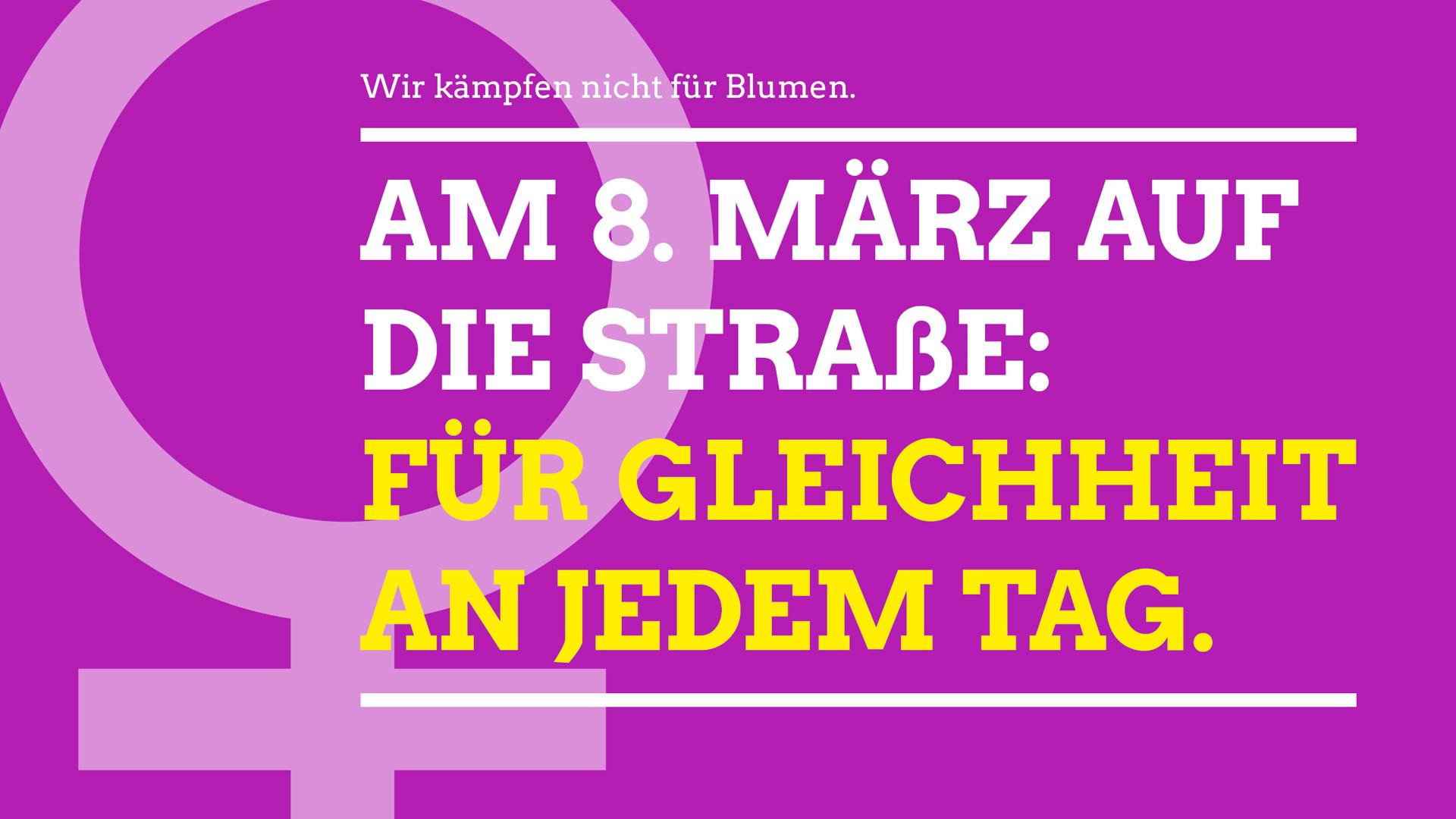 8. März: Beteilige dich am Frauenkampftag – auf der Straße und im Netz