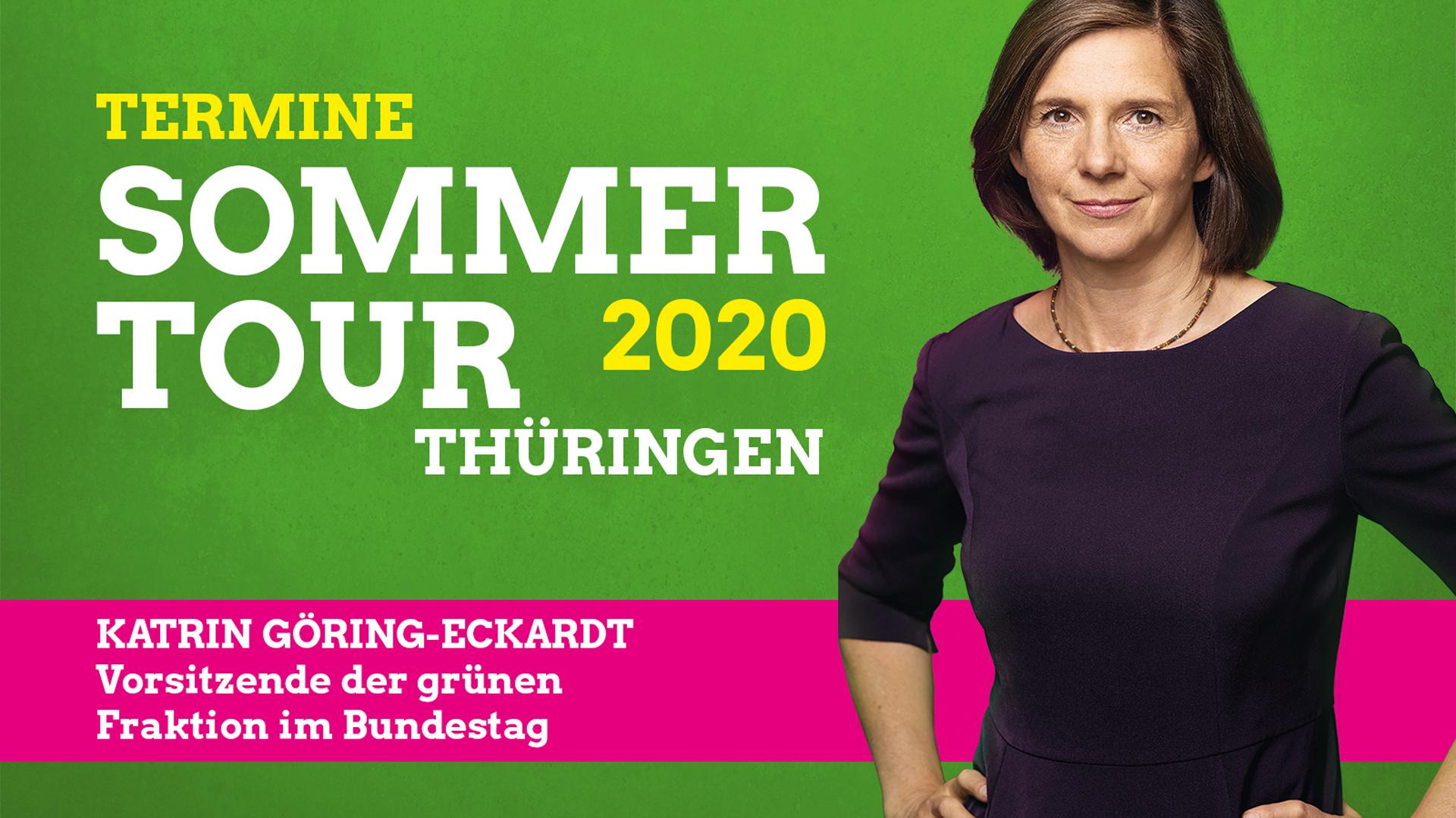 Auf Sommertour in Thüringen: Katrin Göring-Eckardt