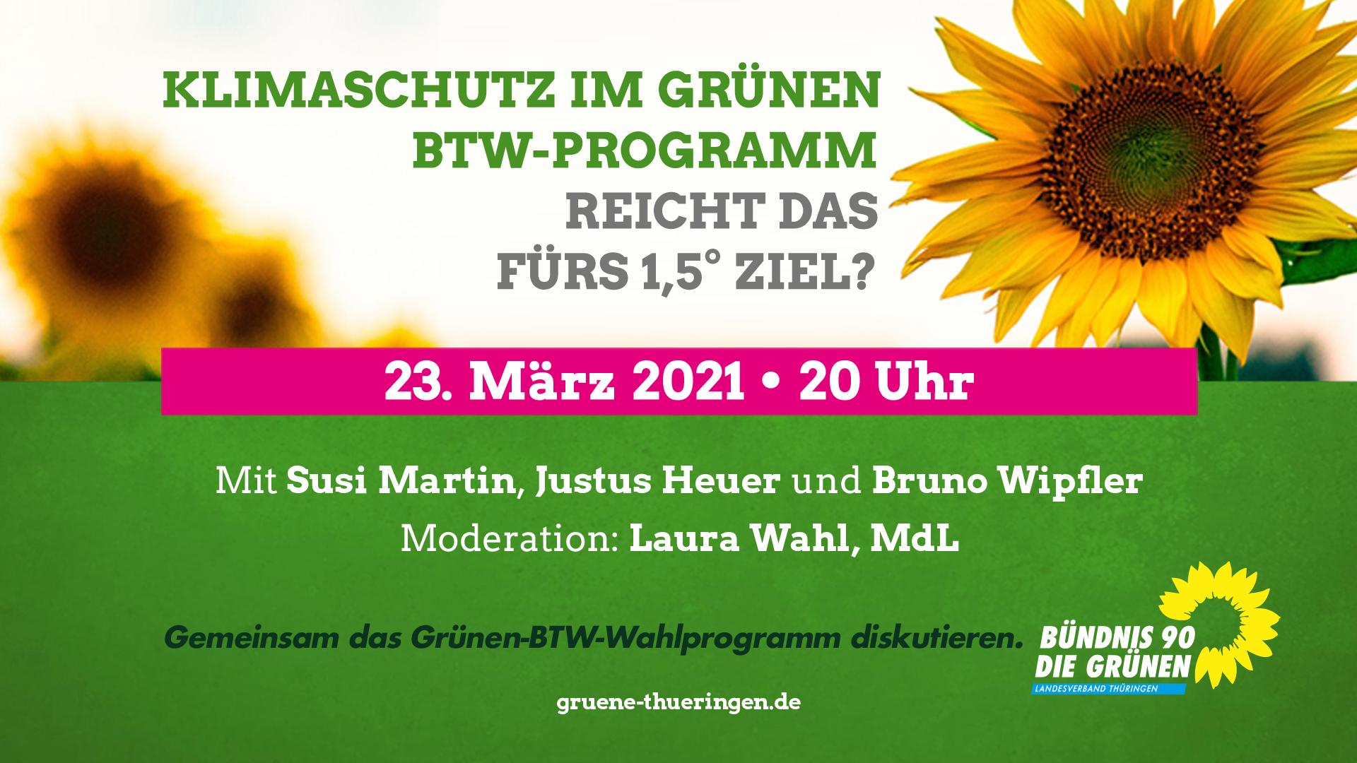 Klimaschutz im Bundestags-Wahlprogramm