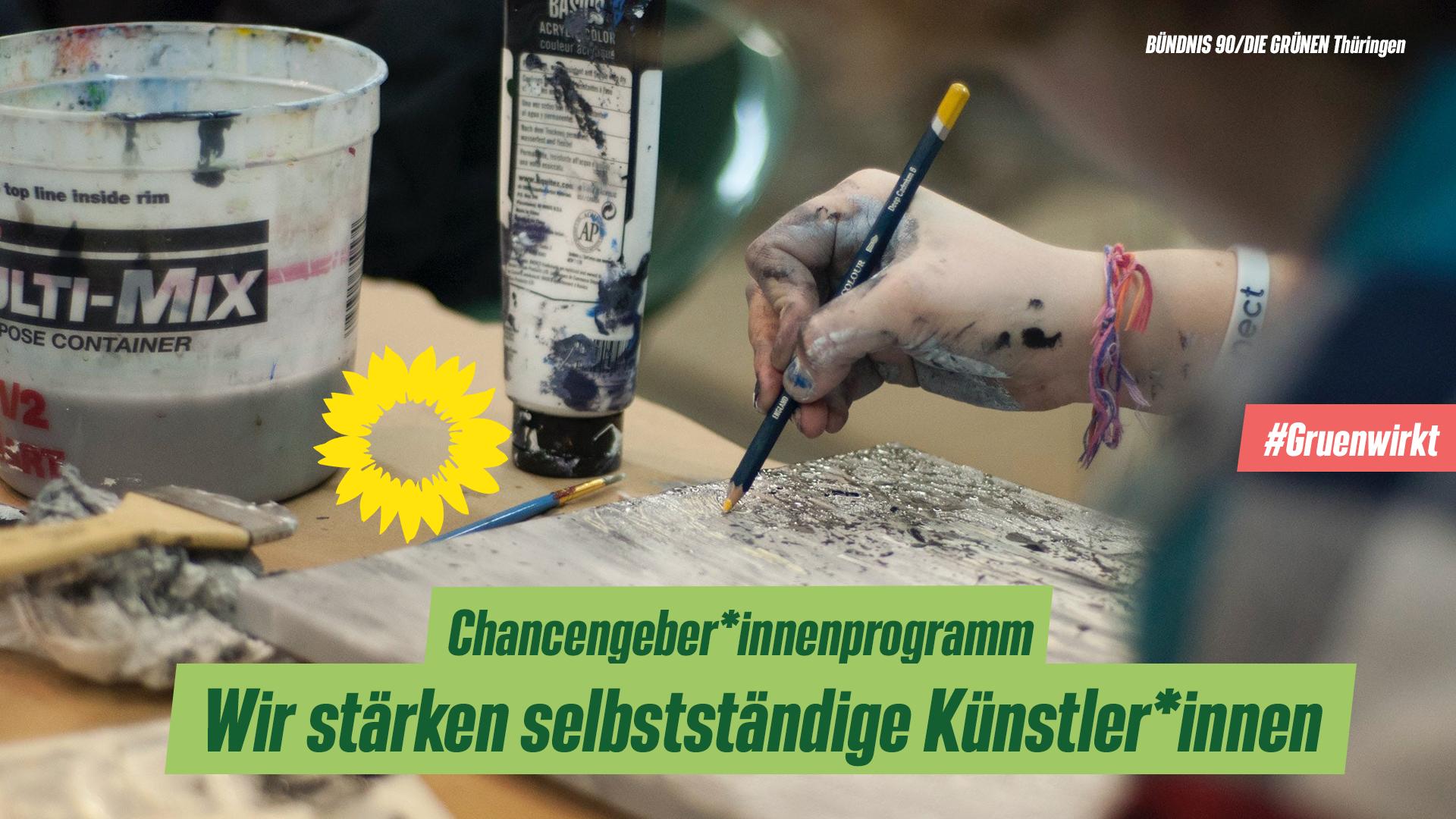 Grün wirkt! Das Thüringer Sonderprogramm Chancengeber*innen für selbstständige Künstler*innen