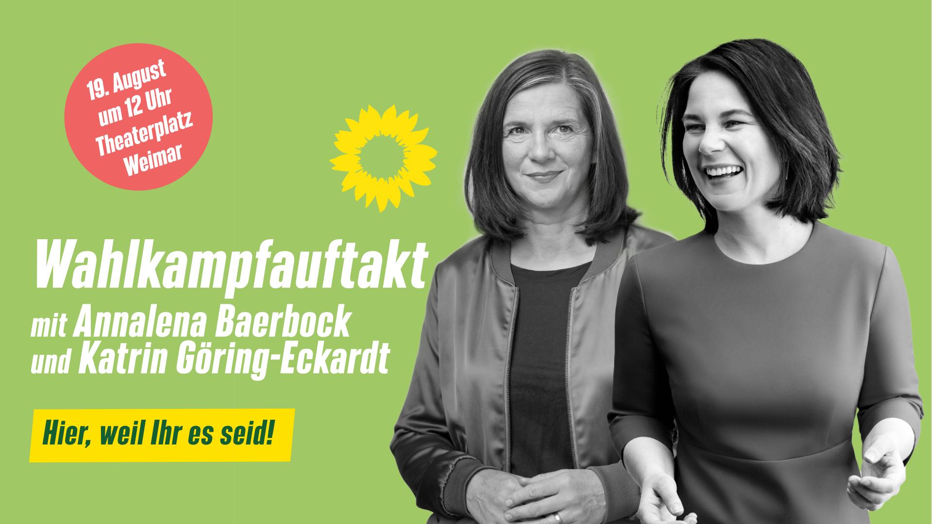Wahlkampfauftakt mit Annalena Baerbock und Katrin Göring-Eckardt